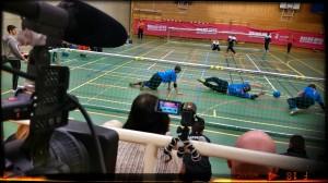 Constrictor Vision filmade bl a goalball på Malmö Open 2014