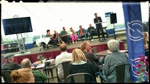 Panelsamtalen leddes av Per Sinding Larsen