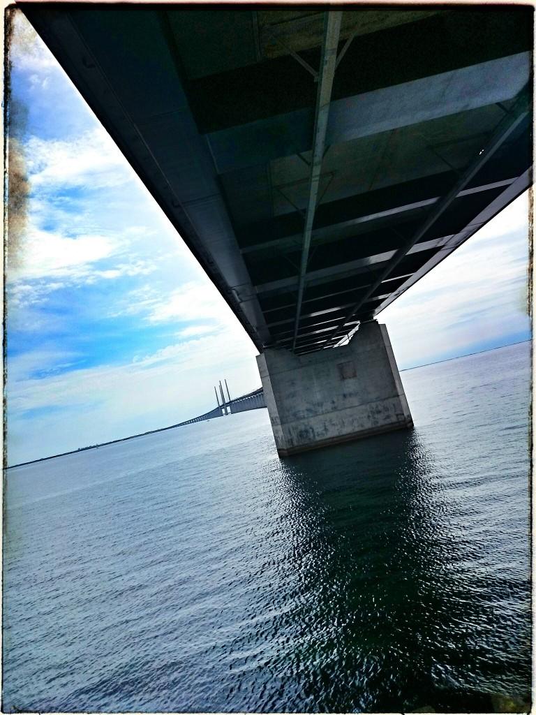 Utsikt från Peberholm mot Sverige