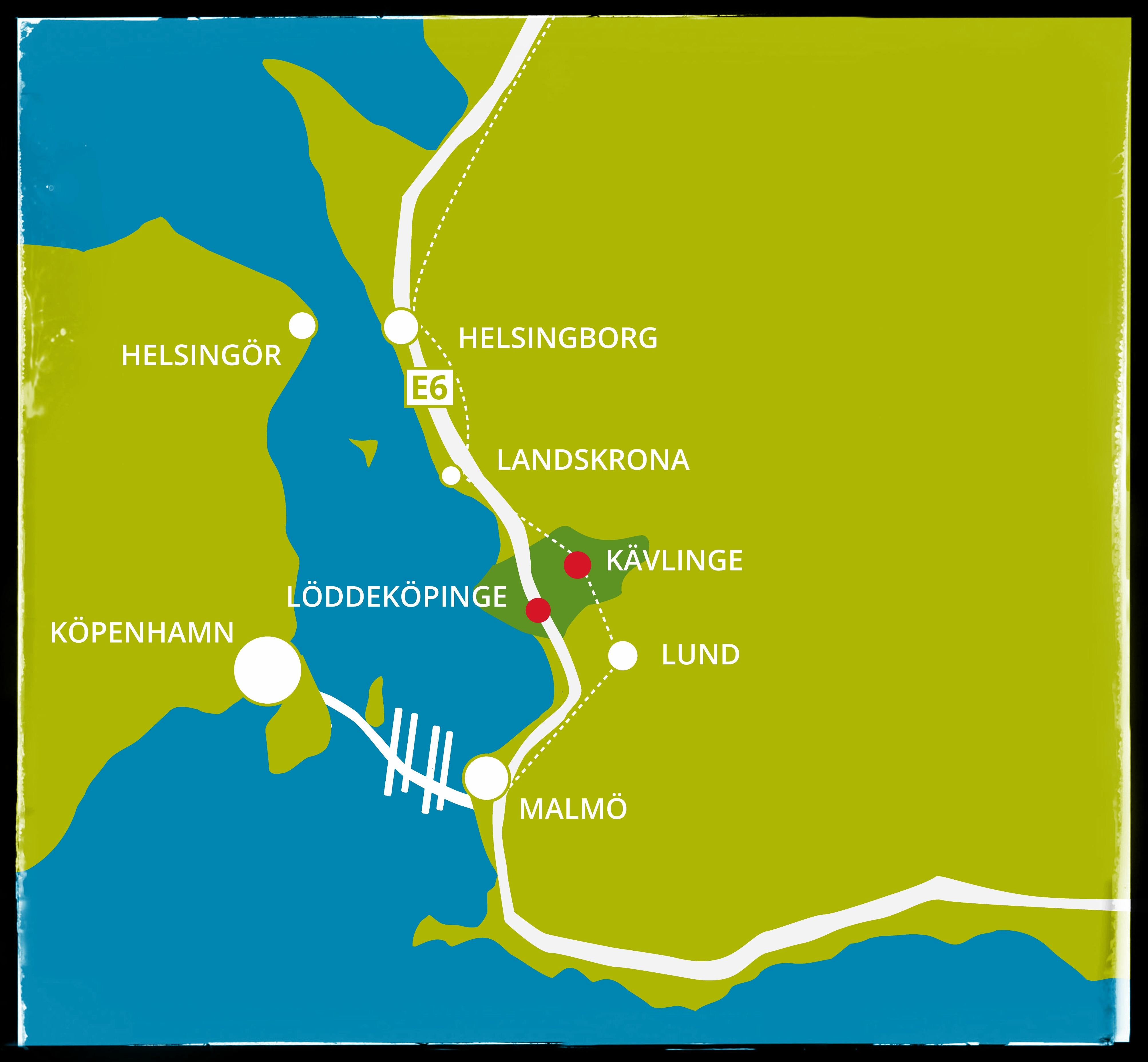 Karta Skane Och Danmark.Loddekopinge Constrictor Vision